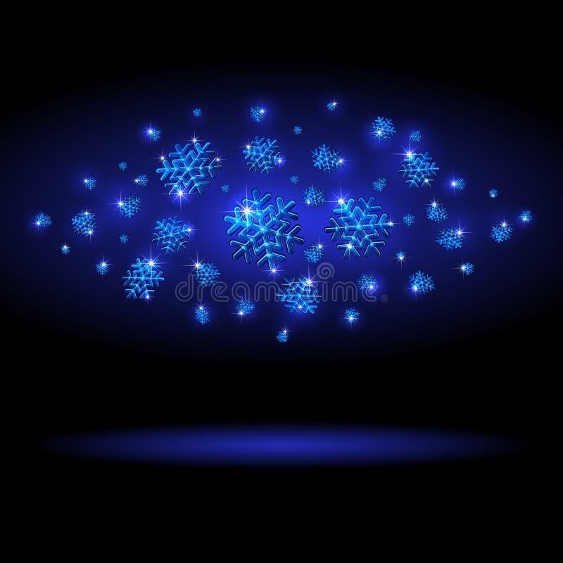 Shining Snowflakes Royalty Free Stock Image