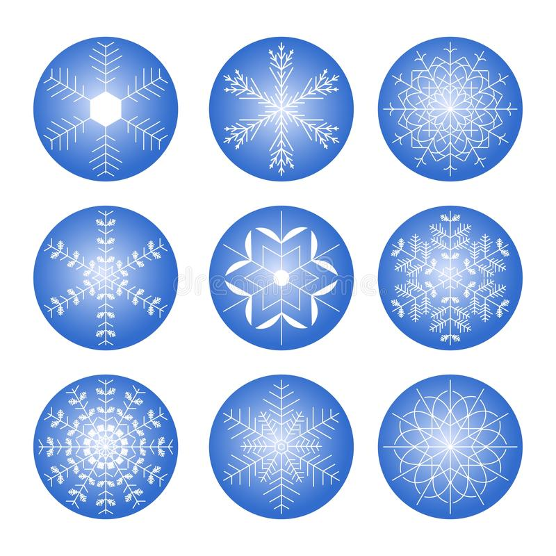Shining snowflakes icon. stock illustration