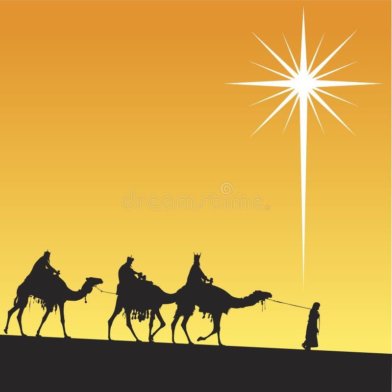 Shining star of Bethlehem. stock illustration