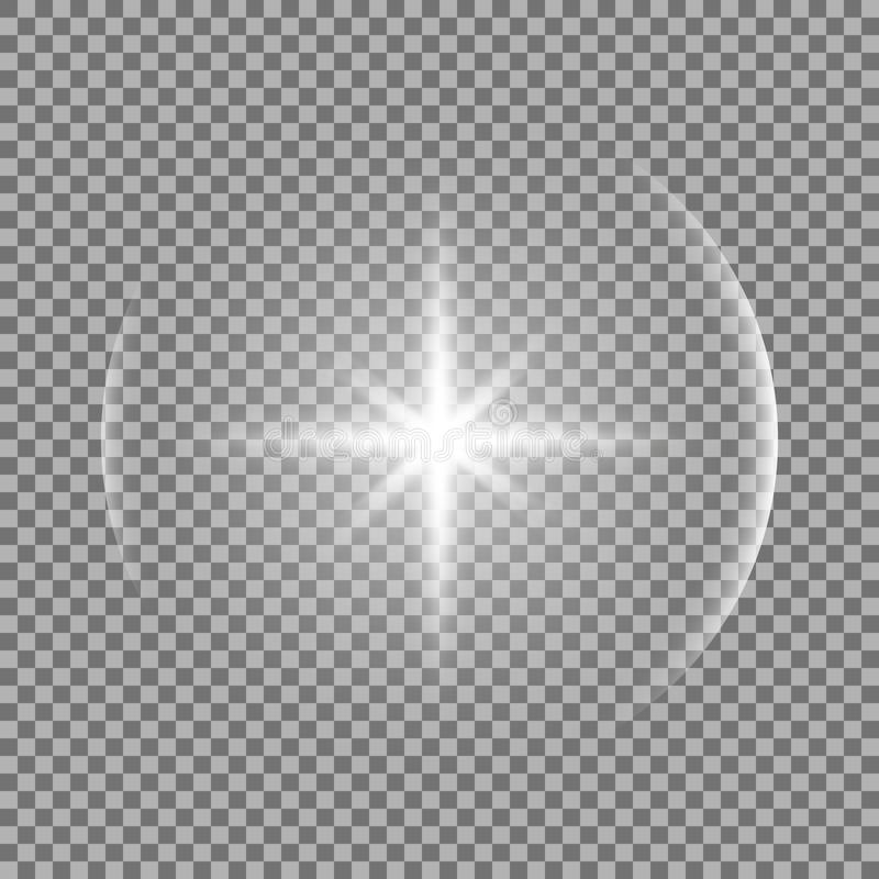 Shining star with a glare, white color royalty free illustration
