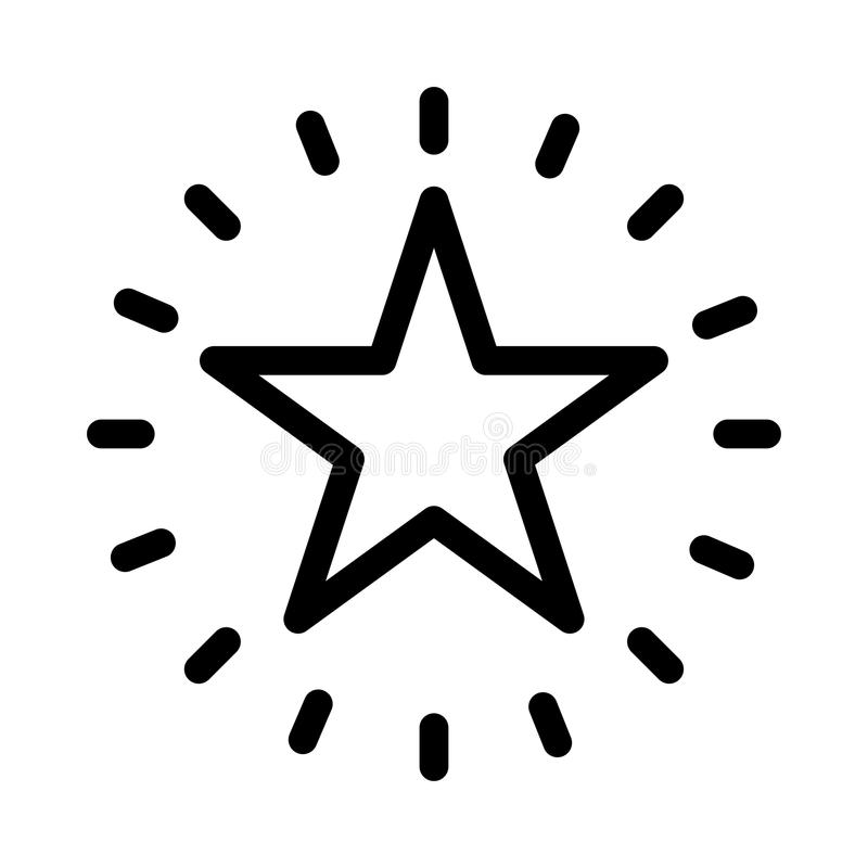 Shining star icon royalty free illustration