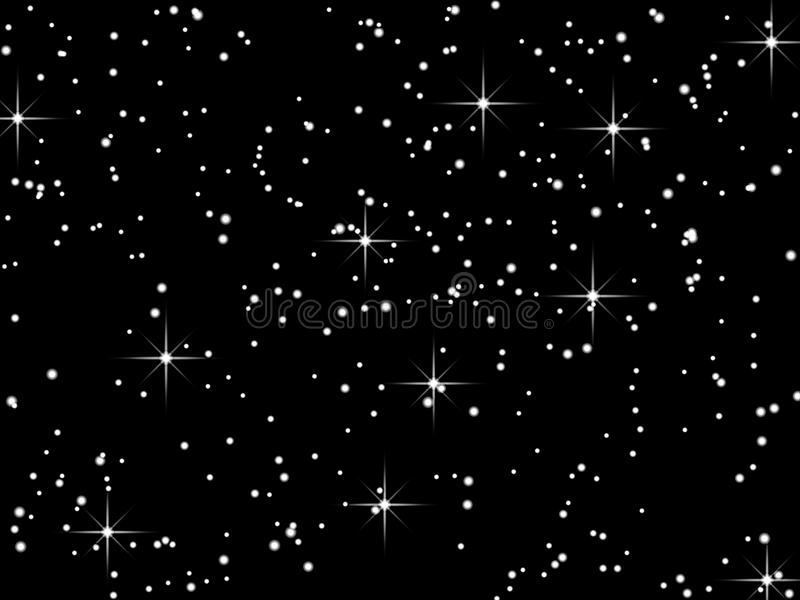 Shining stars. On black background stock illustration