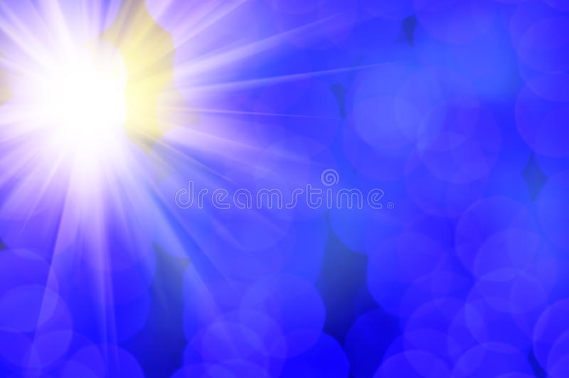 Shining Sun And Blue Lens Flare Royalty Free Stock Image