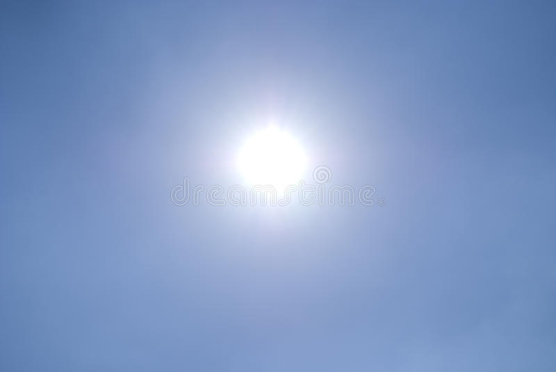 Download Shining Sun In A Clear Blue Sky Stock Photo - Image: 10060048