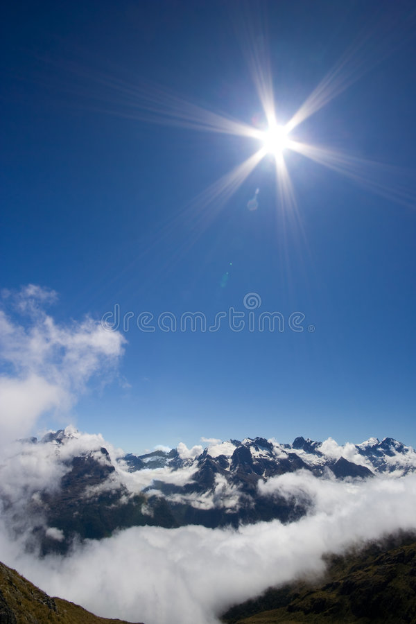 Download Shining Sun over Mountains stock image. Image of clouds - 8257403