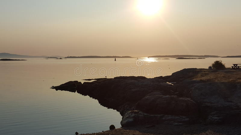 Shining waters royalty free stock images