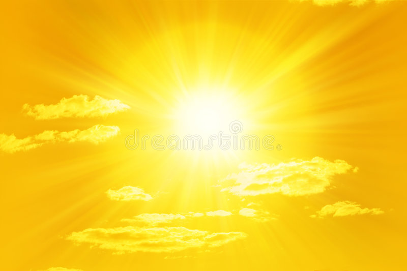 Shining Yellow Sun Sky royalty free stock photo
