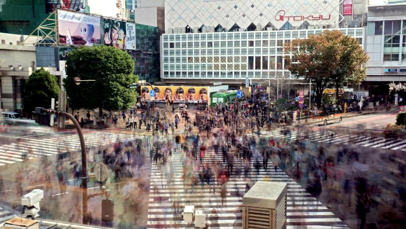 Shinjuku που διασχίζει, Τόκιο στοκ φωτογραφία με δικαίωμα ελεύθερης χρήσης