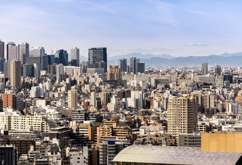 Shinjuku de gratte-ciel de Tokyo de vue aérienne image libre de droits