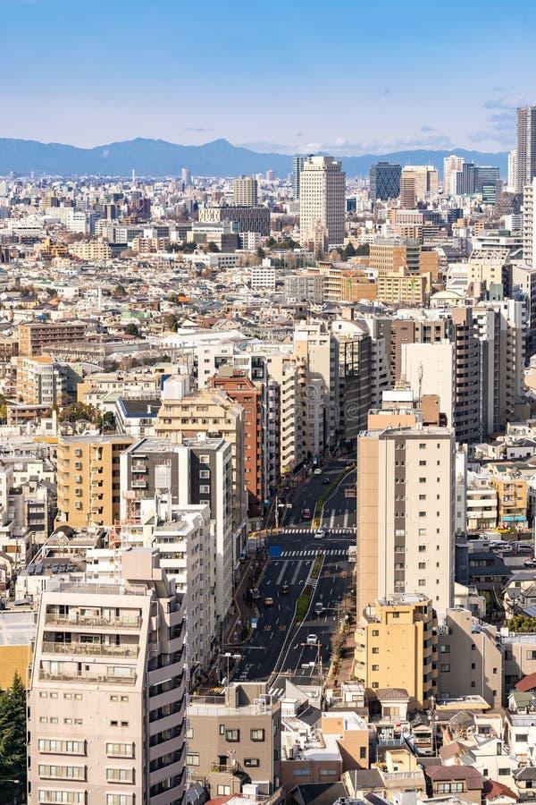 Shinjuku de gratte-ciel de Tokyo de vue a?rienne images libres de droits