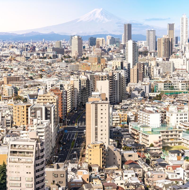 Shinjuku de gratte-ciel de Tokyo de vue a?rienne photos libres de droits