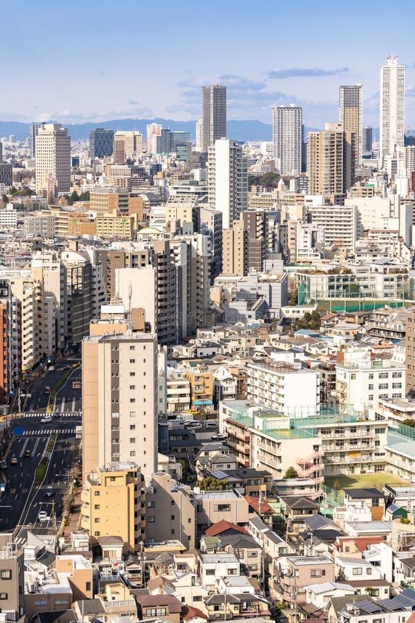 Shinjuku de los rascacielos de Tokio de la visi?n a?rea foto de archivo libre de regalías