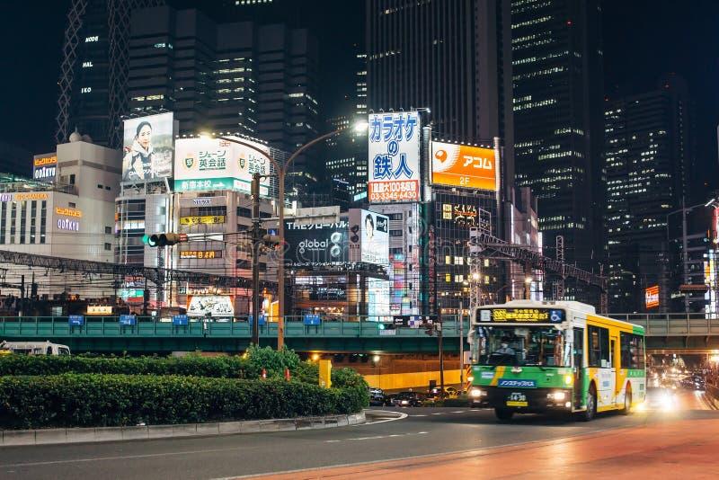 Shinjuku en Tokio, Japón foto de archivo libre de regalías