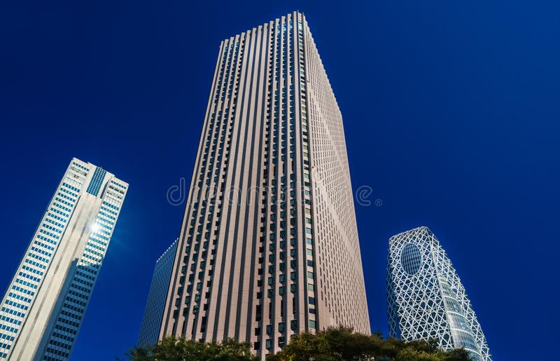 Shinjuku financial district stock photo