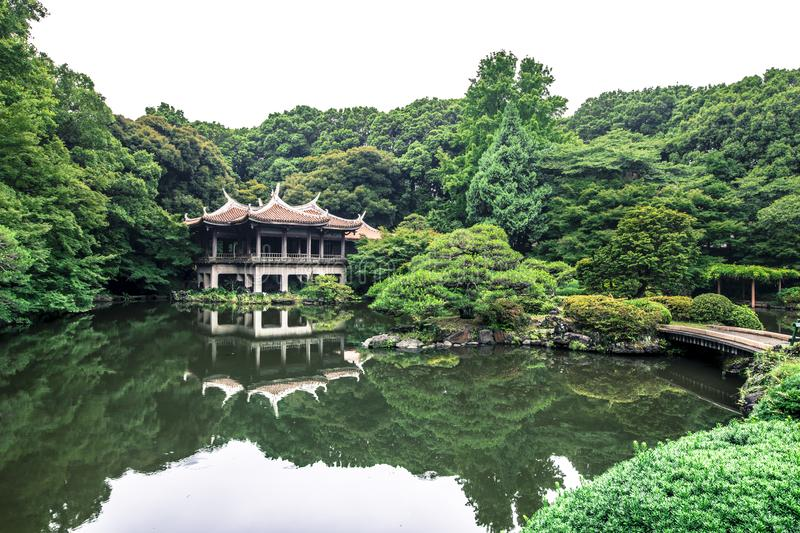 Shinjuku Gyoen National Garden is a large park and garden in Shinjuku and Shibuya, Tokyo, Japan.  royalty free stock images