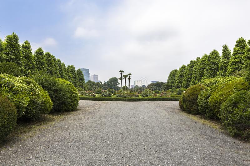 Shinjuku Gyoen National Garden is a large park and garden in Shinjuku and Shibuya, Tokyo, Japan.  stock photos