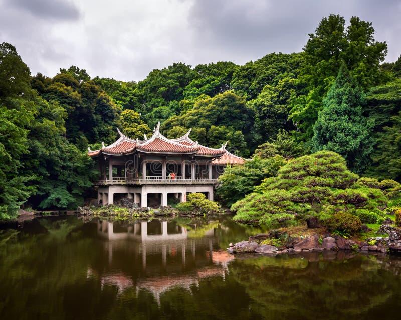Shinjuku Gyoen National Garden in Tokyo. Japan stock image