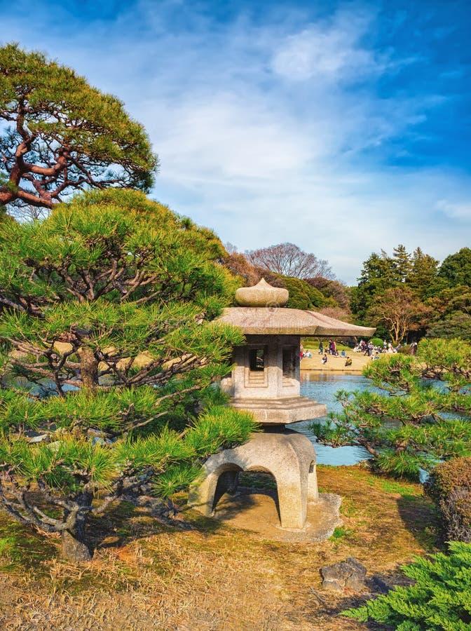 Shinjuku Gyoen Park, Tokyo, Japan in spring. TOKYO, JAPAN - MARCH 29, 2016: Springtime in Shinjuku Gyoen Park - Tokyo Japan royalty free stock images