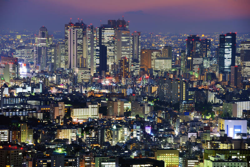 Shinjuku horisont royaltyfri foto