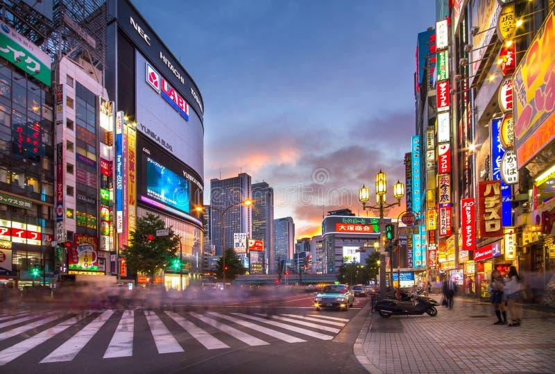 Shinjuku na cidade do Tóquio em Japão fotos de stock royalty free