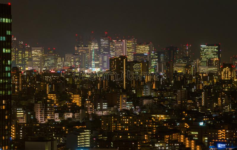 Shinjuku by night stock images