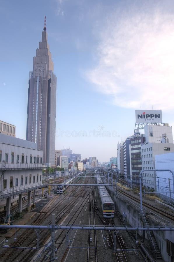 Shinjuku Shibuya, Tokyo, Japan fotografering för bildbyråer