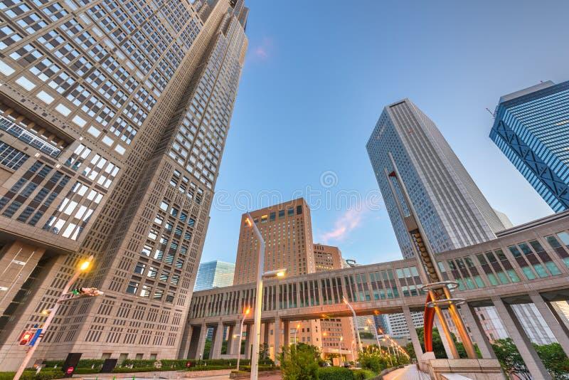 Shinjuku, Tóquio, arquitetura da cidade de Japão após a construção metropolitana do governo imagem de stock royalty free