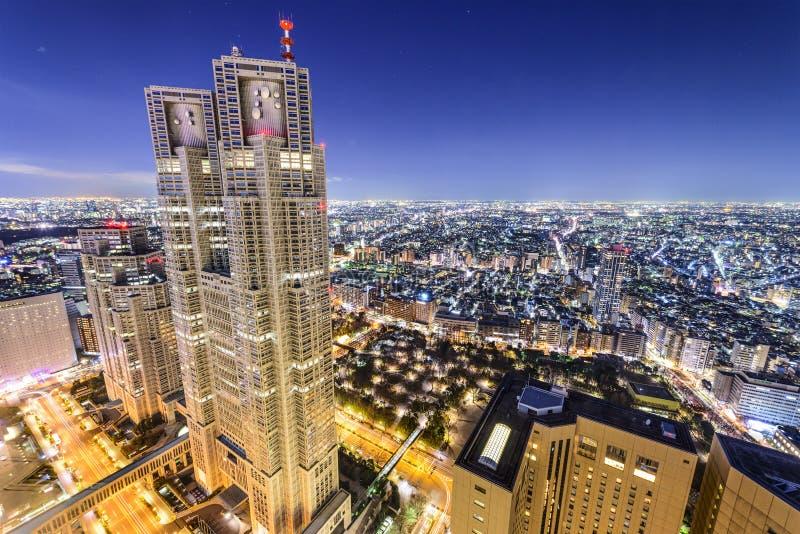 Shinjuku, Tokio, Japonia budynki biurowi zdjęcie stock