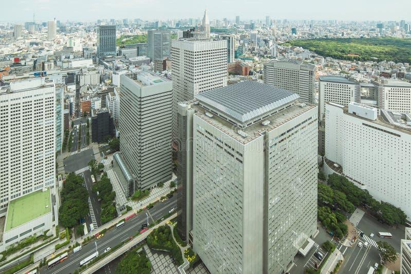 Shinjuku, Tokyo, financiële het districtscityscape van Japan royalty-vrije stock fotografie