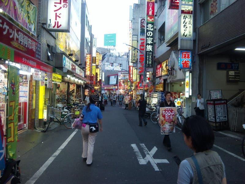 Shinjuku uliczny zakupy zdjęcia stock