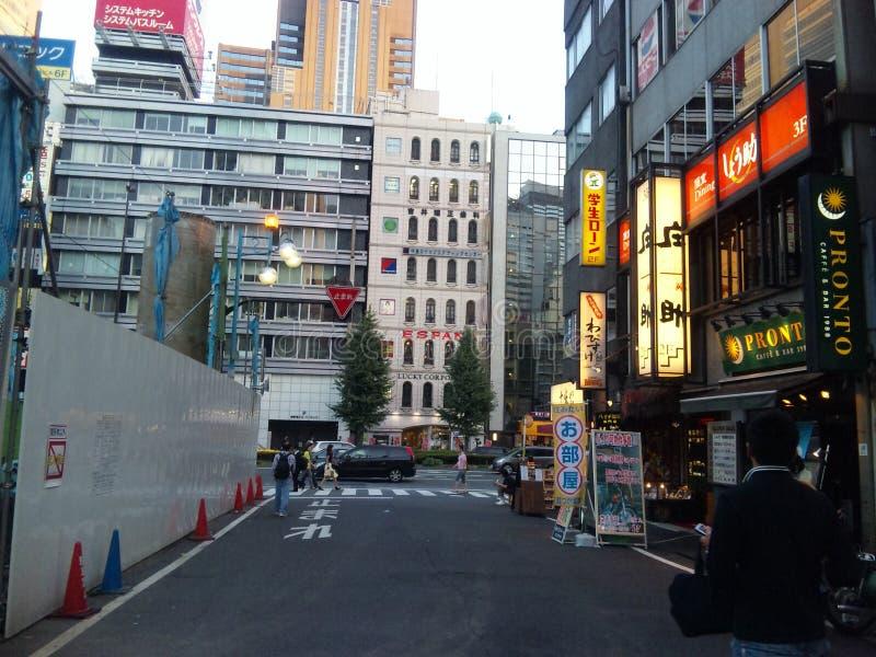 Shinjukustraat het winkelen stock foto