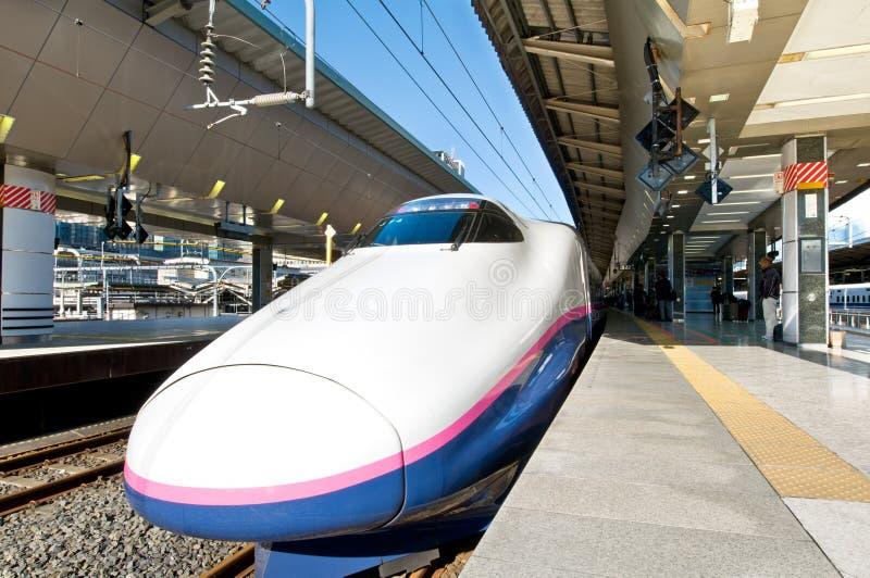 shinkansen岗位东京 免版税库存照片