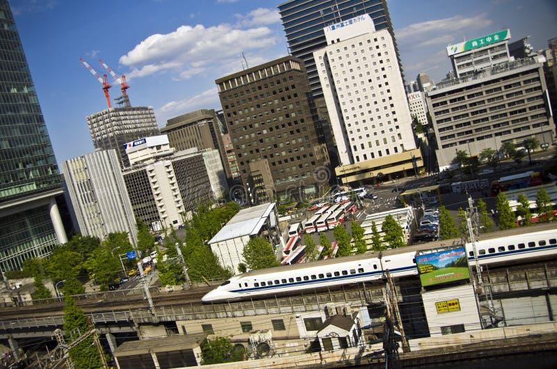 Shinkansen в токио, Японии стоковая фотография rf