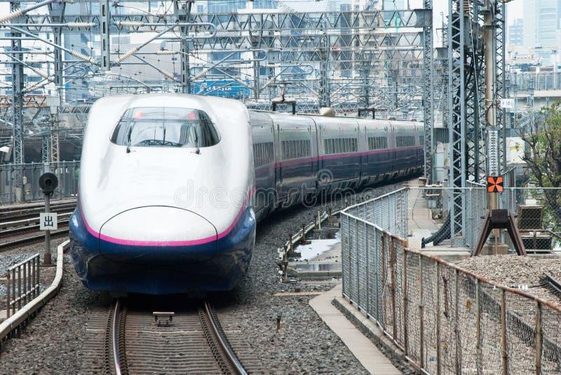 Shinkansen bullet train. Tokyo, Japan - May 17, 2012: Shinkansen bullet train at Tokyo main railway station in May 17, 2012 Tokyo, Japan.Shinkansen is world's stock photography