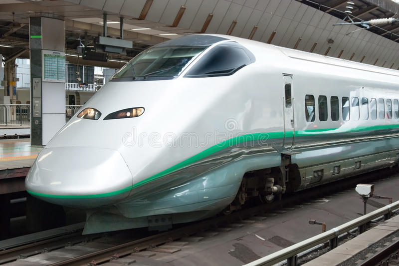 Shinkansen bullet train. Tokyo, Japan - May 20, 2012: Shinkansen bullet train at Tokyo main railway station in May 20, 2012 Tokyo, Japan.Shinkansen is world's stock photography