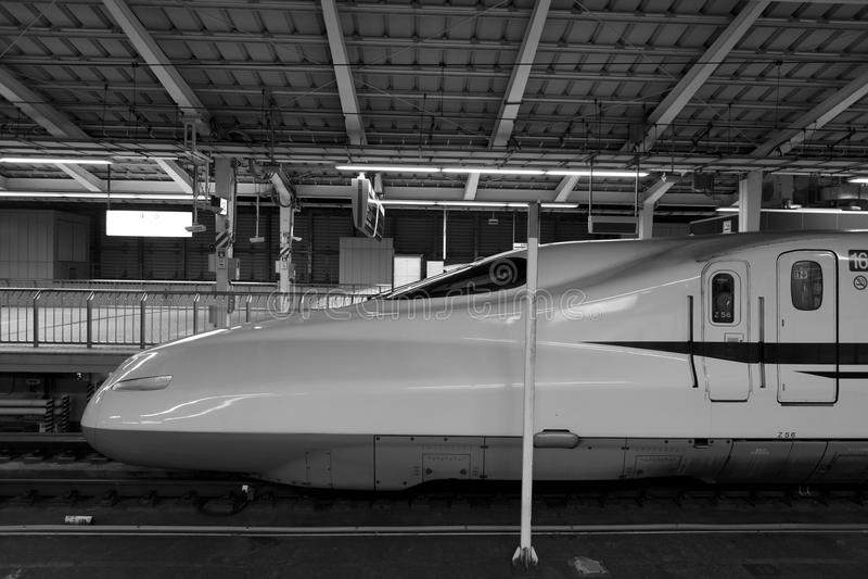 Shinkansen bullet train. TOKYO - NOV 10: Shinkansen bullet train at Tokyo railway station in November 10,2013 Tokyo, Japan. Shinkansen is world's busiest high stock photo
