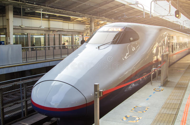 Shinkansen Bullet Train at Japan stock photography