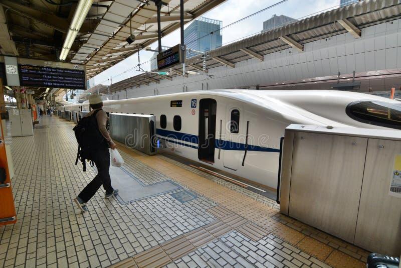 N700 series Shinkansen at Tokyo Station. Tokyo. Japan royalty free stock photography