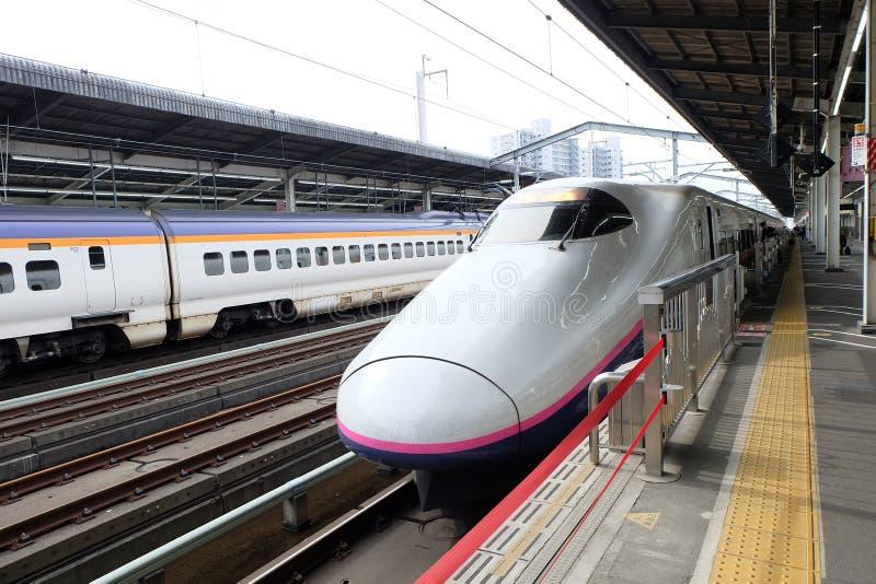 Shinkansen, de Spoorwegen van Japan stock foto