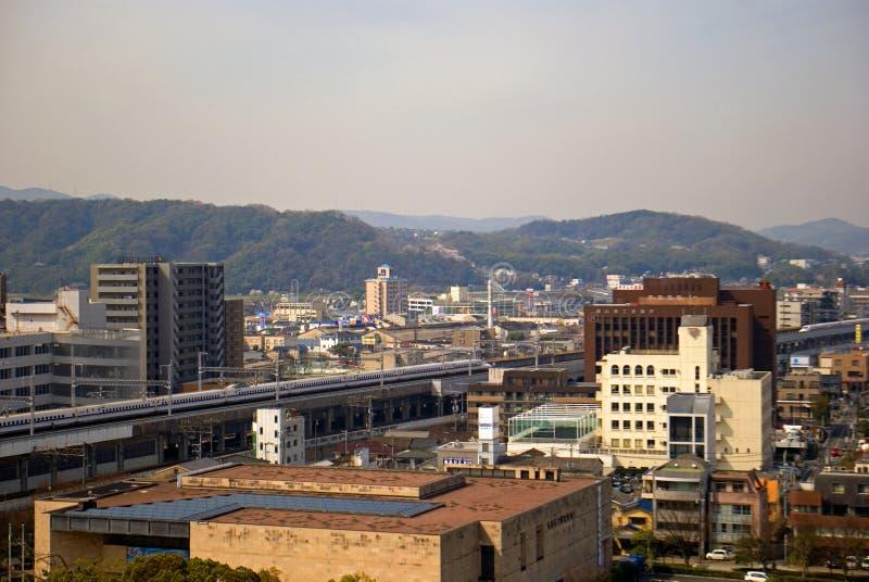 Shinkansen, Fukuyama, Japonia zdjęcie stock