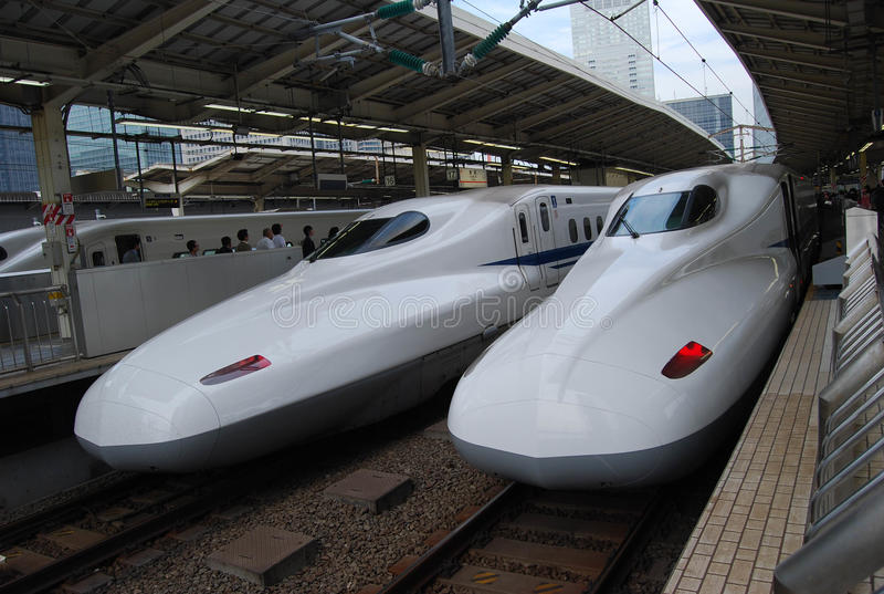 Shinkansen is the high-speed train in Japan royalty free stock image