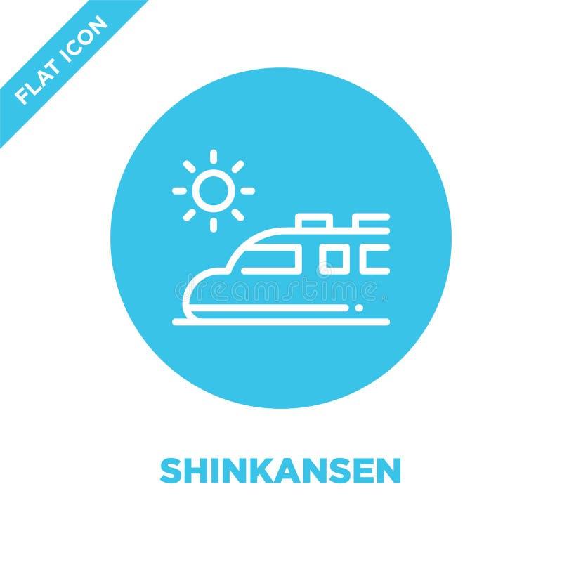 shinkansen Ikonenvektor Dünne Linie shinkansen Entwurfsikonen-Vektorillustration shinkansen Symbol für Gebrauch auf Netz und mobi stock abbildung