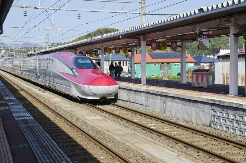Shinkansen Komachi drev arkivbilder