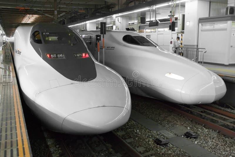 Shinkansen pociska pociąg obraz stock