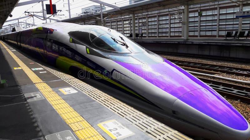 Shinkansen snabbt japanskt drev fotografering för bildbyråer