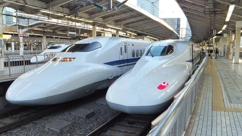 Shinkansen Trains Japan royalty free stock photography