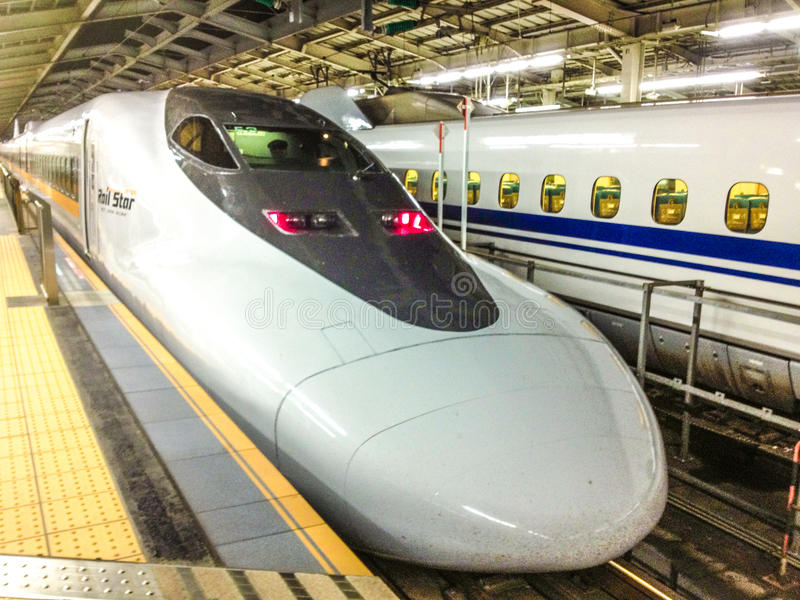 Shinkansen train royalty free stock images