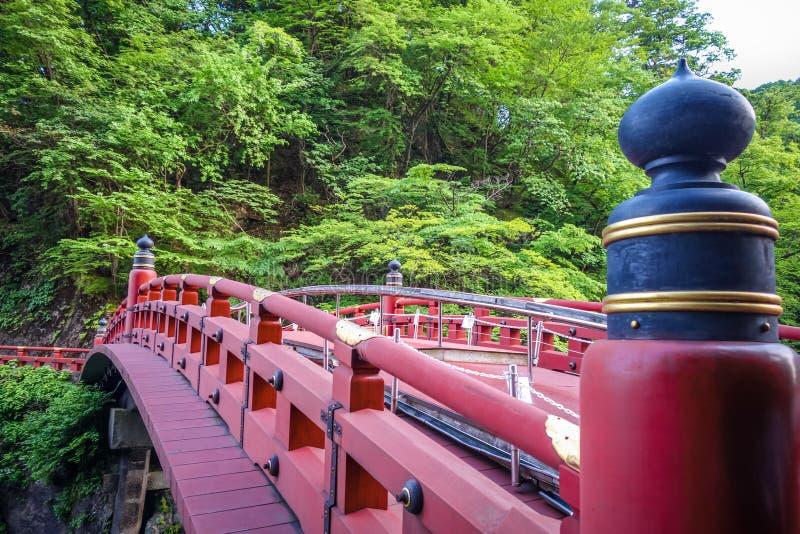 Shinkyo Brücke, Nikko, Japan stockfotos