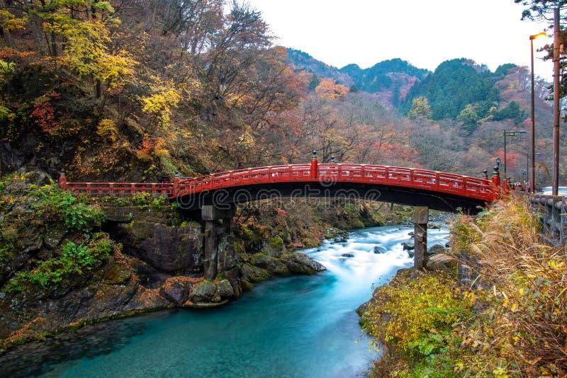 Historical Shinkyo Bridge, Nikko, Japan stock photos