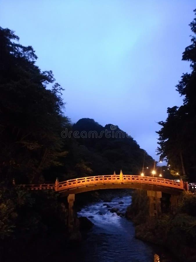 Shinkyo bro i Nikko arkivbild